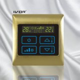 Interruptor del tacto del termóstato del acondicionador de aire de 2 tubos en el marco del metal (SK-AC2000B-2P-N)