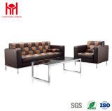 Sofá de cuero moderno con el sofá del ocio, sofá del sofá de la oficina de la oficina del hotel