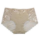 Sous-vêtements sans joint de femmes de chaîne de caractères de culottes lacet transparent sexy de dossiers de plein