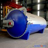 autoclave de goma horizontal industrial de Vulcanizating de la calefacción de vapor de 2500X6000m m