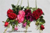 전체적인 년 훈장 가짜 Rosa가 고품질에 의하여 인공적인 로즈 꽃이 핀다