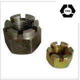 DIN 935 탄소 강철 육각형에 의하여 배열되는 성곽 견과