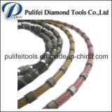 Провод диаманта шариков пластичного покрытия спеченный увидел для каменного вырезывания