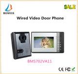 um telefone video elegante da porta de 7 polegadas com visão noturna do intercomunicador do Doorbell