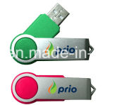 Plástico USB Flash Memory Swivel USB Stick Driver
