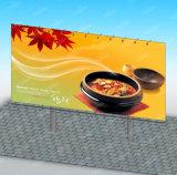 装置の屋外の表示掲示板を広告するバックリットの縦都市