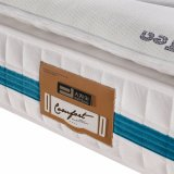 Anti-Acaroids tela com o colchão comprimido da mola natural do bolso do látex para a mobília Fb871 do quarto do hotel