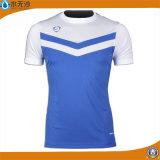 T-shirts ronds de collet de coton de forme physique de T-shirts de sport d'hommes d'usine
