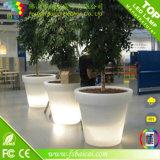 Pote de flor del jardín del LED con el material plástico