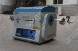 1200c Laboratorio de vacío tubo del horno de dos zonas de calefacción con tubo del cuarzo Modelo DTN-80-12