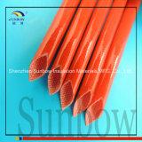 borracha de silicone revestida Sleeving da fibra de vidro 7.0kv