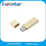 사각 USB 기억 장치 Pendrive 나무로 되는 USB3.0 지팡이