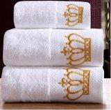 Покрашенные равниной полотенца ванны хлопка, мягкая супер абсорбциа воды не увянуть
