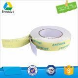 Cinta echada a un lado doble adhesiva del PE de la cinta de la espuma de la alta calidad 1m m con el pegamento de acrílico solvente fuerte (BY1010)