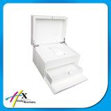 Caisse d'emballage en bois faite sur commande à extrémité élevé de montre avec le tiroir