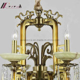 Retro dekorative hängende Kristalllampe mit antikem Messing mit Hotel