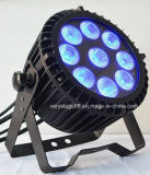 9*15W RGBWA+UV 6in1 LED 옥외 동위 빛