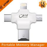 iPhone iPad iPod 인조 인간과 PC (YT-R006)를 위한 1명의 Microsd 카드 판독기에서 모두