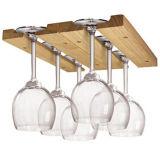 Cremagliera di visualizzazione di legno d'attaccatura di vetro di vino per la cucina domestica