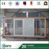 Дверь скольжения энергии замены PVC эффективная с шторками внутрь