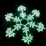 Luz del copo de nieve de la luz de la decoración del tiempo de la Navidad del LED
