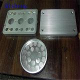 Piezas, placa de cara, disipador de calor, rectángulo trabajados a máquina CNC etc