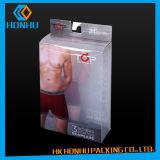 Caixa de empacotamento do roupa interior plástico de Customing