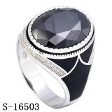 Nuovi anello d'argento dei monili di arrivo 925 con l'agata naturale