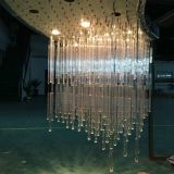 Lámpara pendiente cristalina de la iluminación del hotel del estilo de la manera