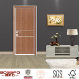 Porta de madeira de alumínio barata ecológica interior do hotel (GSP13-001)