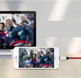 Câble de caractéristiques tressé universel de la meilleure vente avec du ce, FCC, RoHS pour IOS Ipho et Sansumg