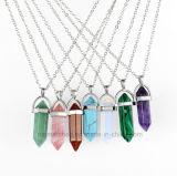 Natürliche KristallsäulenRhinestonechoker-Frauen Andcouple Halsketten-Schmucksachen