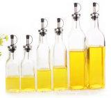 botella de cristal del petróleo de sésamo de 150ml 280ml, botellas de cristal del aceite de cocina, vinagre, botella de la salsa de soja