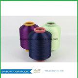 Porciones comunes de hilado teñido droga del poliester de 300d/96f DTY en la materia textil casera