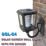Usine solaire de produit du jardin DEL de lumière extérieure solaire Integrated de mur