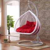 Новый напольный стул яичка качания, мебель ротанга PE, двойник Seater корзины ротанга (D152A)