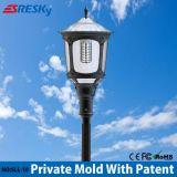 Éclairage extérieur chaud de la vente DEL avec le type solaire d'Européen de lumière d'horizontal de pilier de lumière de jardin de détecteur de mouvement