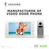 7 pulgadas de Seguridad del hogar del timbre del intercomunicador de memoria de vídeo portero automático