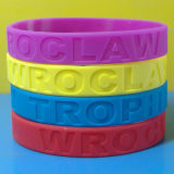 Zoll Debossed Slicone des Zoll-1/2 Wristband