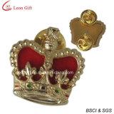 선물 (LM1046)를 위한 주문 금 사기질 접어젖힌 옷깃 핀