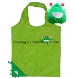 Sacchetto di acquisto pieghevole, stile della rana, riutilizzabile animale, leggero, accessori & decorazione, sacchetti di drogheria e pratico, regali, promozione