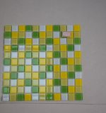 Azulejo de mosaico de cristal de la mezcla verde y amarilla para el azulejo de mosaico de la cocina