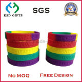 Wristband del silicone/silicone del regalo di promozione con il marchio stampato