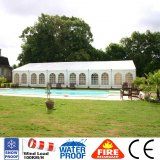 barraca luxuosa impermeável branca do famoso de 10X30m para o banquete de casamento