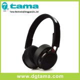 Couleur sans fil de noir d'écouteur de Bluetooth de long temps d'attente supplémentaire pliable