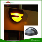 Wand-Bahn-Solarlicht des Halbrund-im Freien angeschaltenes Garten-Licht-Zaun-Rinne-Licht-2LED im Freien wasserdichtes LED