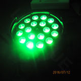 DMX 단계 18X18W RGBWA UV 6in1 동위 LED 급상승
