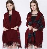 Heißer verkaufender westlicher Art Pashmina Schal mit Taschen (50250)