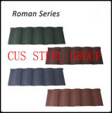 Material de telhado Certificado Roman Shingle Classic Mixed Color Stone Coated Steel Azulejo / Alumínio Zinc Roofing Sheet / Tile Roof