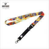 Promotional Cheap Colorful Neck Polyester Lanyard with White Release Buckle